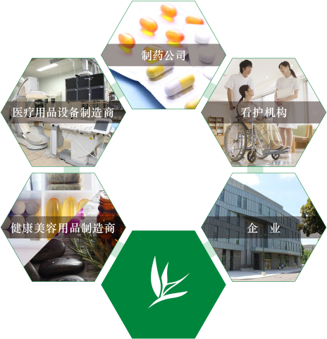 制药公司 医疗用品设备制造商 看护机构 健康美容用品制造商 企业